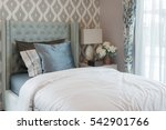 luxury bedroom with classic... | Shutterstock . vector #542901766