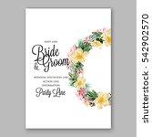 anemone wedding invitation... | Shutterstock .eps vector #542902570