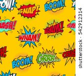 set of comic text  pop art... | Shutterstock .eps vector #542912314