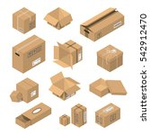 cardboard box vector packaging... | Shutterstock .eps vector #542912470