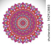 ornament beautiful card with... | Shutterstock . vector #542913883