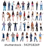 collection back view people .... | Shutterstock . vector #542918269