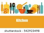 vector set of kitchen utensils