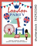 london party invitation card | Shutterstock .eps vector #542925340