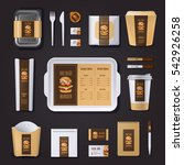 burger bar corporate identity... | Shutterstock .eps vector #542926258