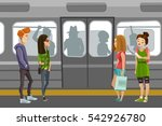 subway people background with... | Shutterstock .eps vector #542926780