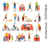 set of isolated senior people... | Shutterstock .eps vector #542926816