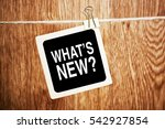 what's new  question for ... | Shutterstock . vector #542927854