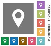 location pin flat icons on... | Shutterstock .eps vector #542928580