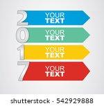 happy new year   illustration... | Shutterstock .eps vector #542929888