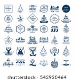collection of vintage retro... | Shutterstock .eps vector #542930464
