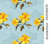seamless floral pattern with... | Shutterstock .eps vector #542930470