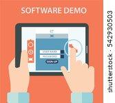software demo testing vector... | Shutterstock .eps vector #542930503