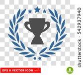 vector glory cup laurel wreath... | Shutterstock .eps vector #542937940