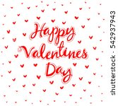 happy valentine's day vintage... | Shutterstock .eps vector #542937943