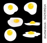 set of fried eggs. vector... | Shutterstock .eps vector #542939014