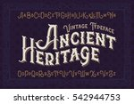 Stock vector vintage vector font elegant royal typeface in medieval ancient style 542944753