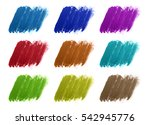 shape of different color... | Shutterstock . vector #542945776