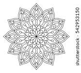 flower mandalas. vintage... | Shutterstock .eps vector #542953150