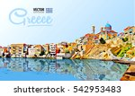 greece holidays   clear sea and ... | Shutterstock .eps vector #542953483