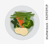 vegetable salad isolated on...   Shutterstock .eps vector #542955919