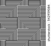 abstract vector seamless op art ... | Shutterstock .eps vector #542959084