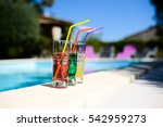 three tropical colorful drink... | Shutterstock . vector #542959273
