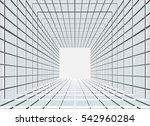 abstract vector tunnel... | Shutterstock .eps vector #542960284