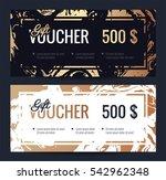 gift voucher coupon discount.... | Shutterstock .eps vector #542962348