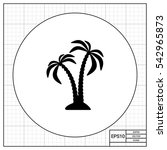 pair of coconut palms icon | Shutterstock .eps vector #542965873