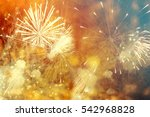 fireworks at new year and copy... | Shutterstock . vector #542968828