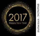 2017 happy new year gold... | Shutterstock .eps vector #542969968