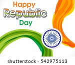 happy indian republic day... | Shutterstock .eps vector #542975113