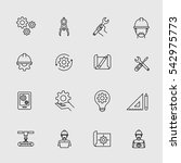 engineering simple icons....