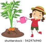 illustration of a little girl... | Shutterstock .eps vector #542976940