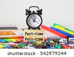 part time   full time | Shutterstock . vector #542979244