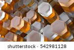 3d abstract background made of... | Shutterstock . vector #542981128