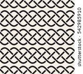 interlaced lines celtic ethnic... | Shutterstock .eps vector #542985910