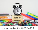 time to upgrade  | Shutterstock . vector #542986414