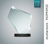 blank trophy award isolated on... | Shutterstock .eps vector #542993920