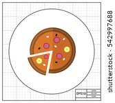 pizza icon | Shutterstock .eps vector #542997688