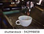 coffee latte art in coffee shop ... | Shutterstock . vector #542998858