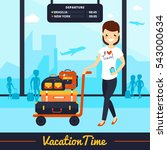 travel luggage illustration... | Shutterstock . vector #543000634
