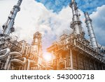 close up industrial view at oil ... | Shutterstock . vector #543000718