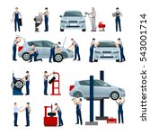 flat icons set of different... | Shutterstock . vector #543001714