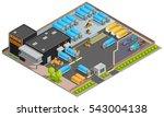 road cargo transportation... | Shutterstock . vector #543004138