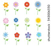 set of vector flowers graphics | Shutterstock .eps vector #543006550