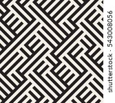 irregular maze line. abstract... | Shutterstock .eps vector #543008056