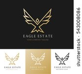 eagle logo template. | Shutterstock .eps vector #543008086