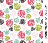 seamless bright pattern with... | Shutterstock .eps vector #543011224